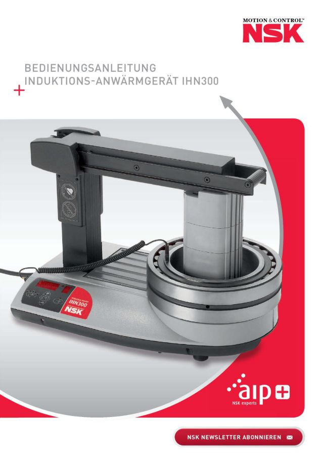 Bedienungsanleitung - Induktions-Anwärmgerät IHN300
