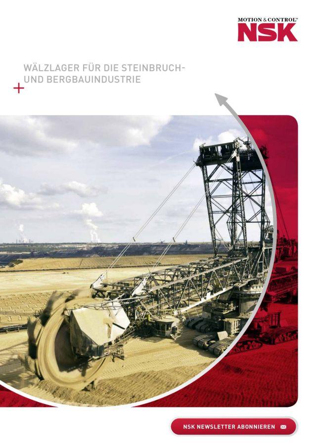 Wälzlager für die Steinbruch- und Bergbauindustrie