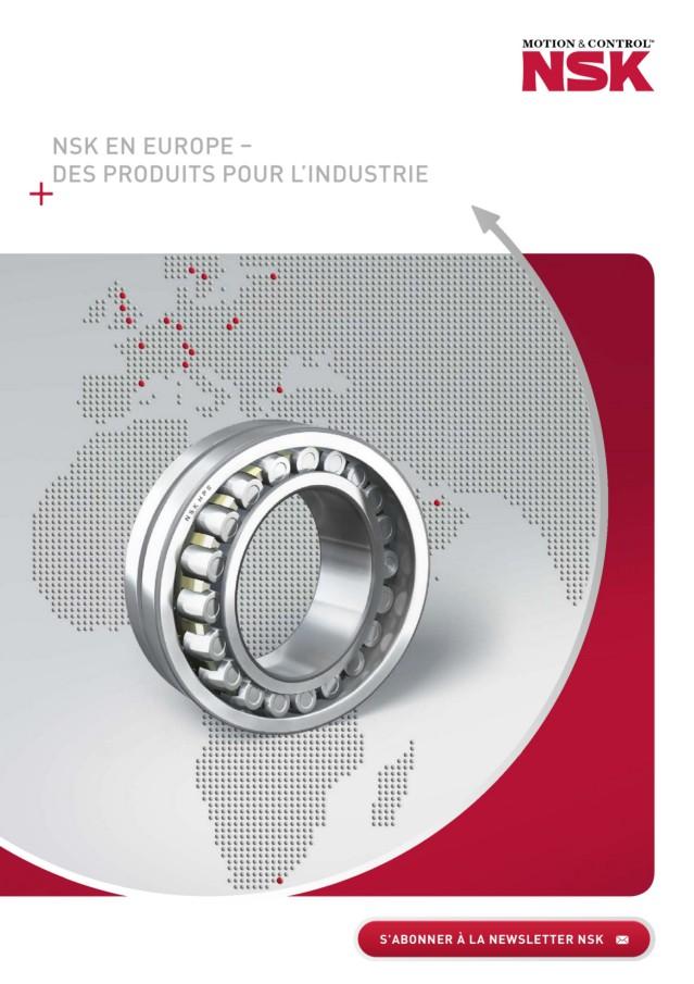 NSK en Europe - des Produits pour l'Industrie